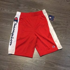 Vintage Champion Athletic Shorts - Red with White
